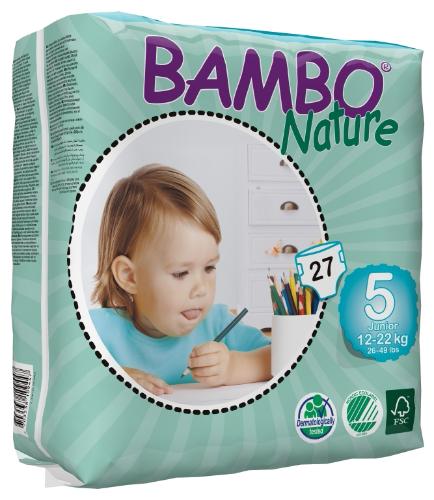 Bambo Nature  Nappies - Junior Size 5
