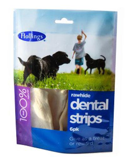 Hollings  Rawhide Dental Strips Foodsor Dogs